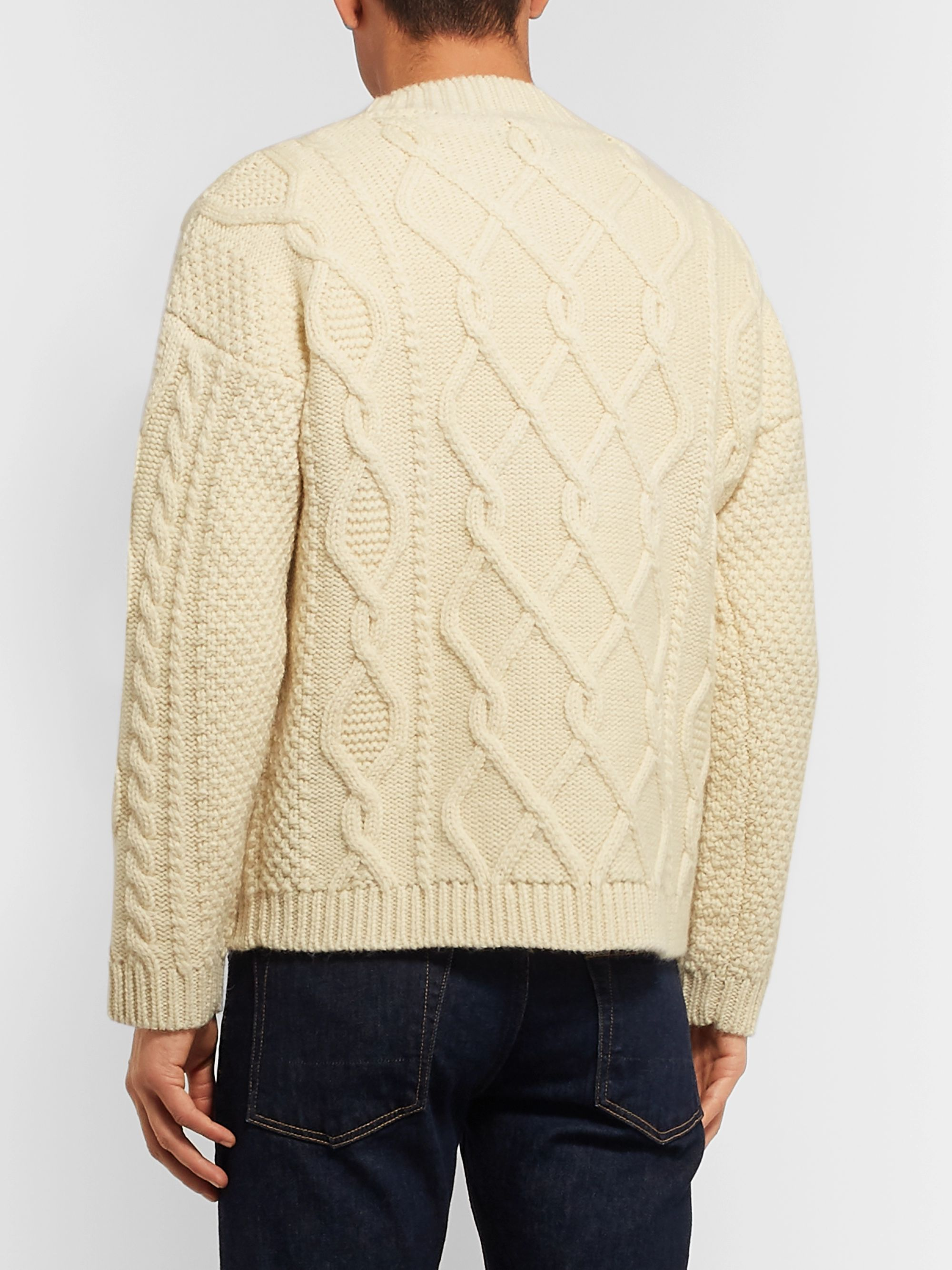 Drake's Cable-Knit Wool Sweater