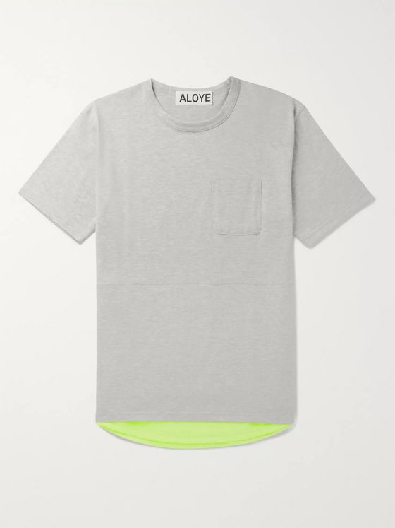 Aloye Shell-Panelled Cotton-Jersey T-Shirt