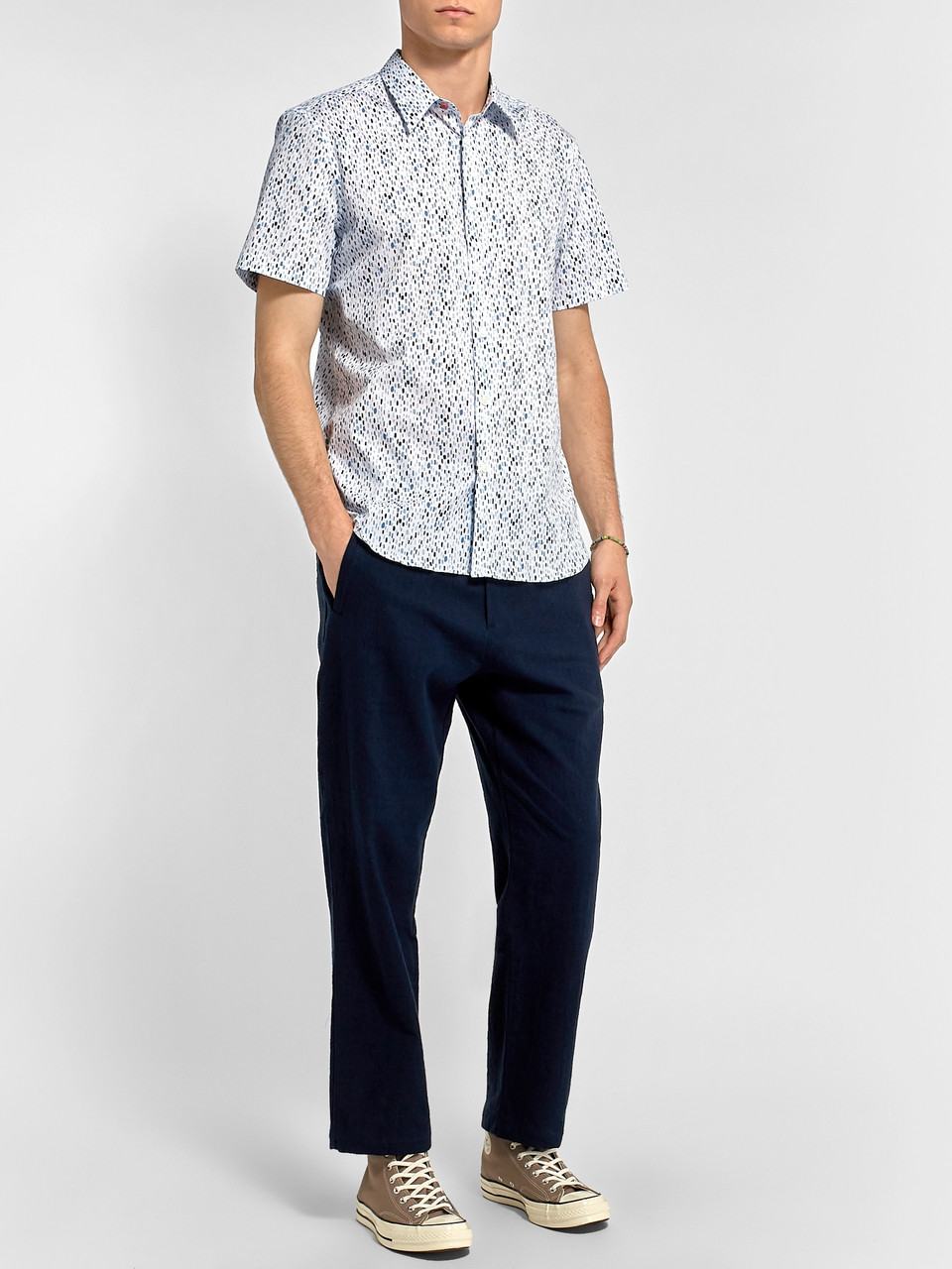 PS Paul Smith Slim-Fit Printed Cotton-Blend Shirt
