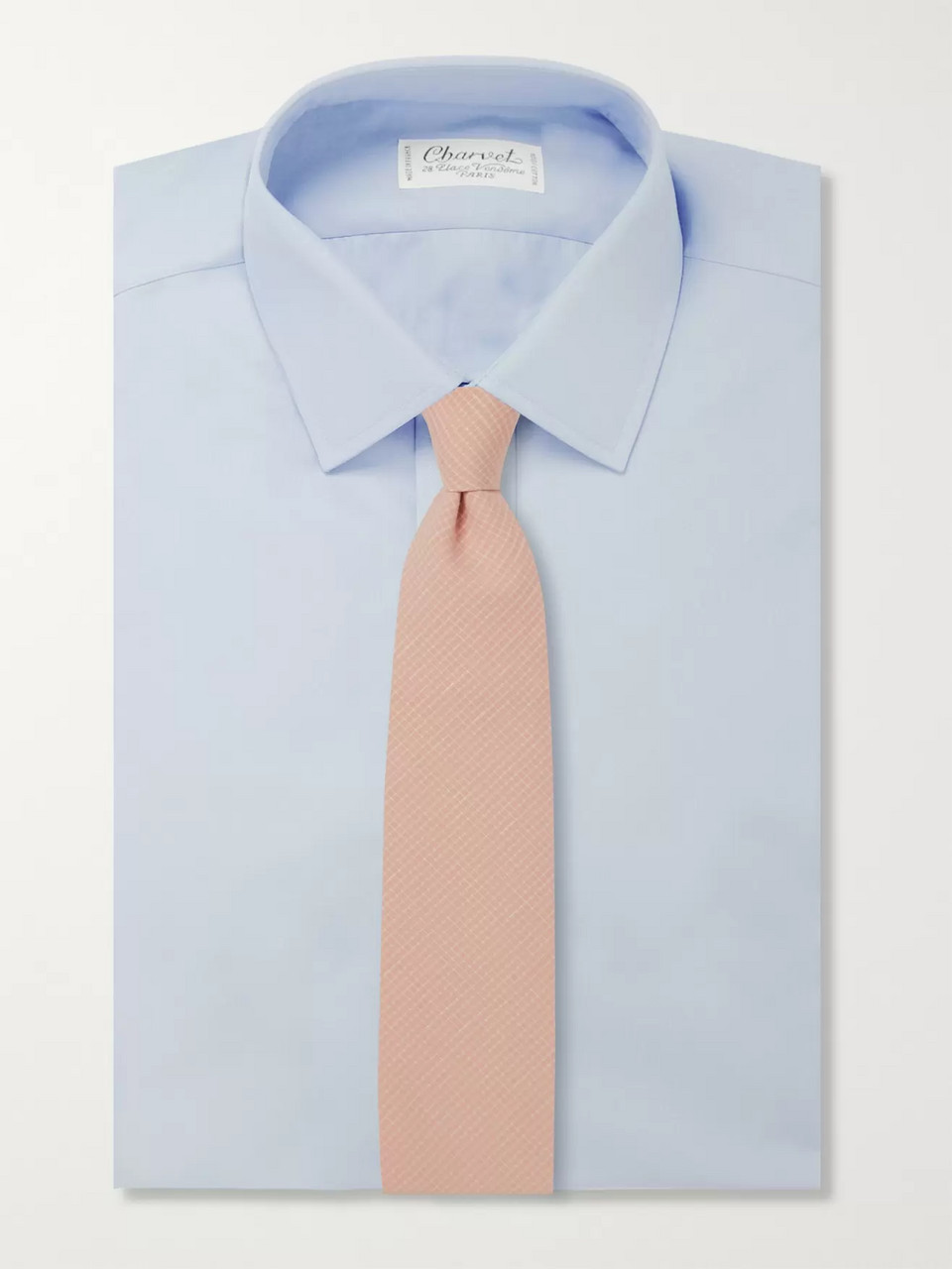 Oliver Spencer 8cm Kersley Cotton and Linen-Blend Tie