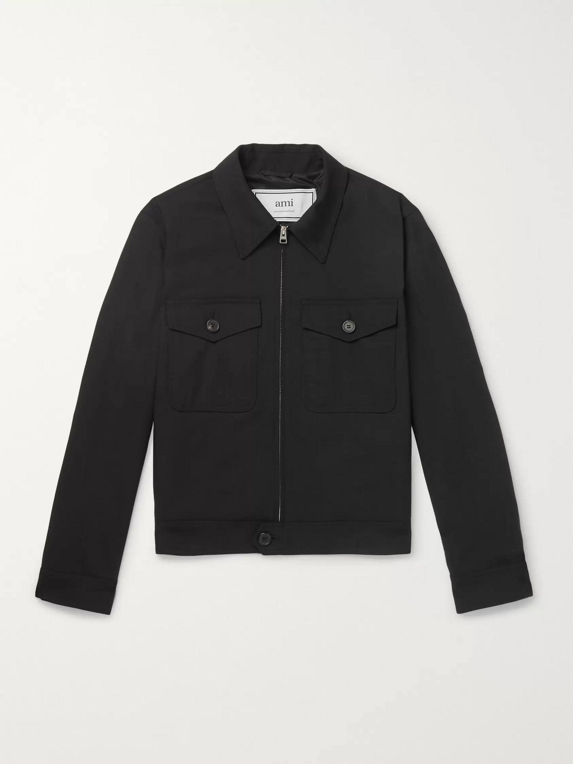 AMI Wool-Twill Blouson Jacket