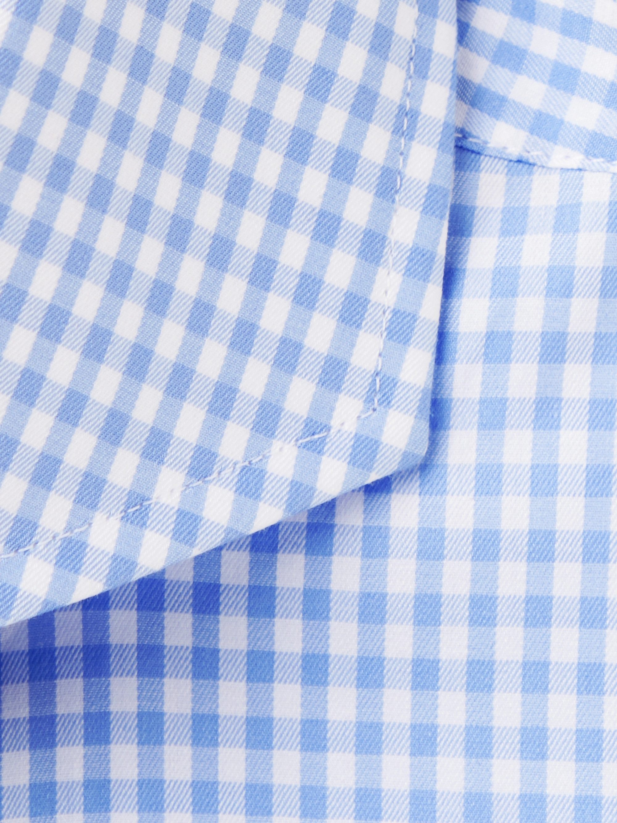 Canali Blue Cutaway-Collar Gingham Cotton-Poplin Shirt