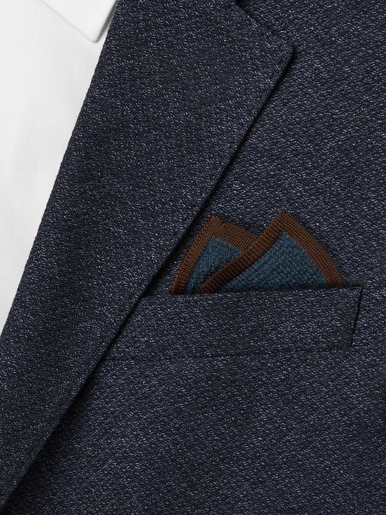 Brioni Cashmere and Silk-Blend Pocket Square