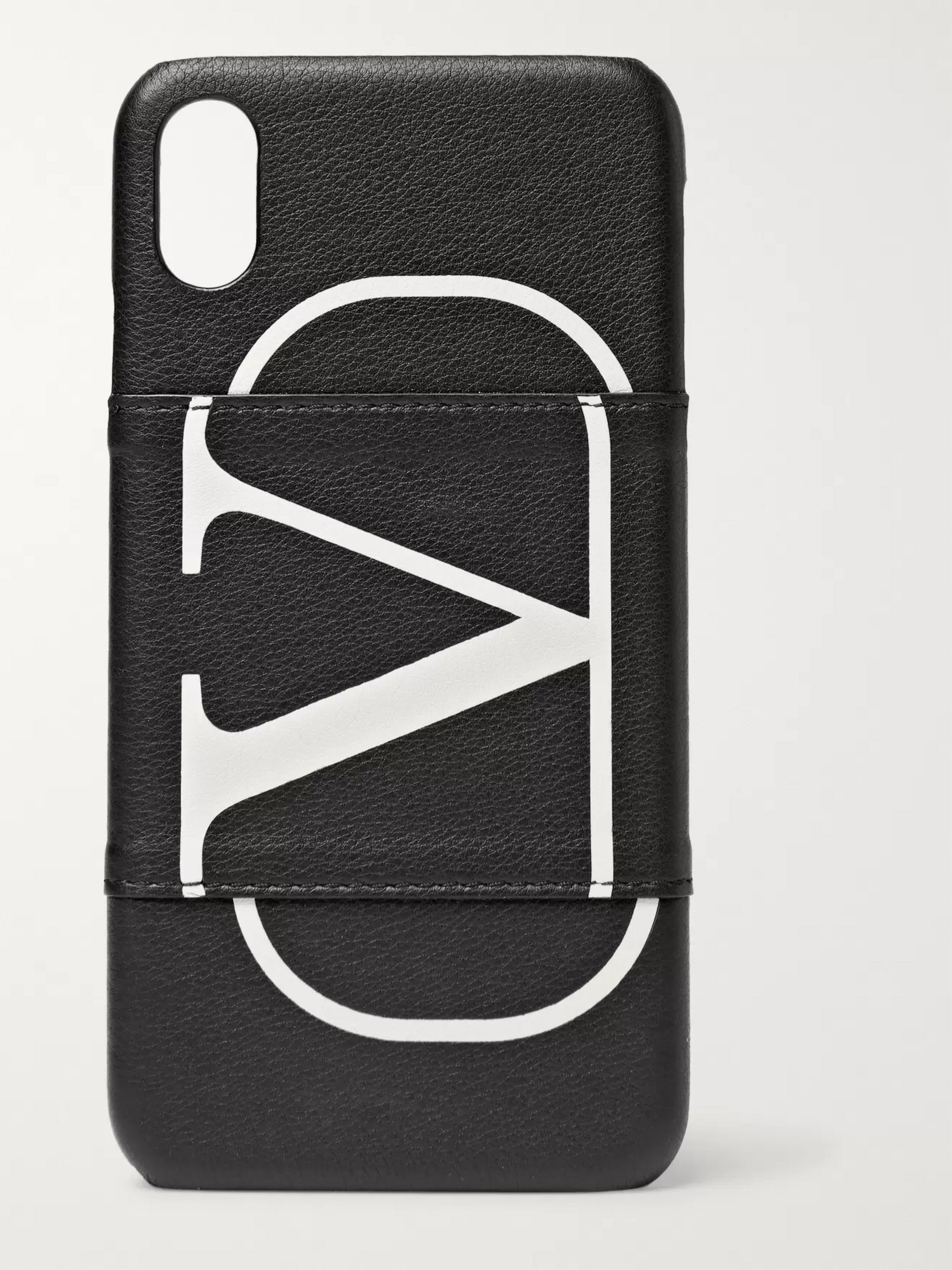 Valentino Valentino Garavani Full-Grain Leather iPhone XS Case