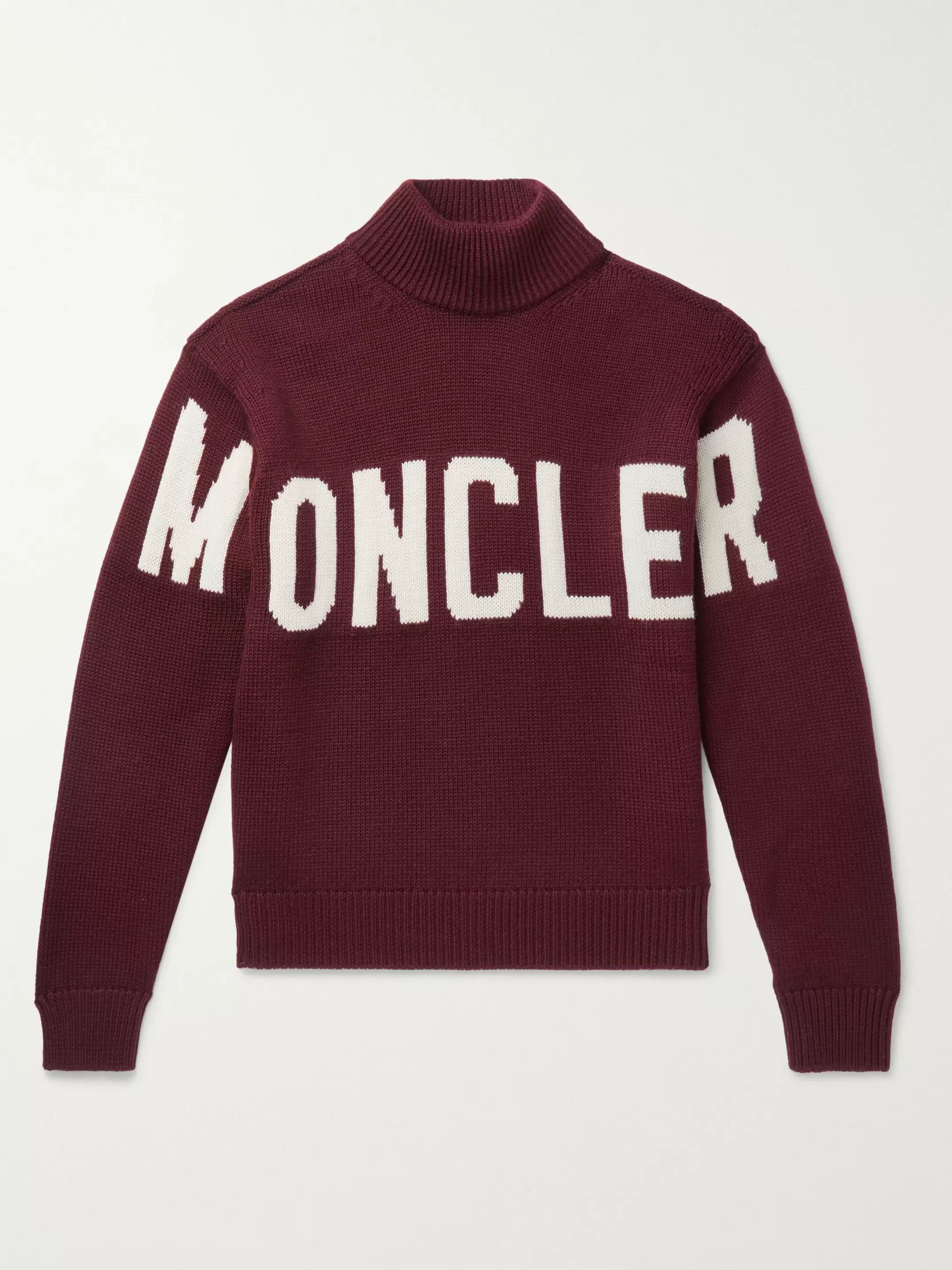 Moncler Logo-Intarsia Virgin Wool Sweater
