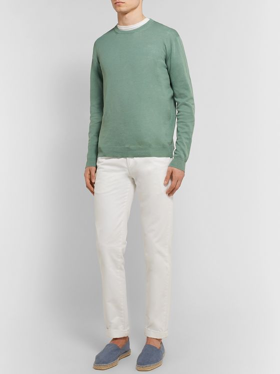 Altea Slim-Fit Linen and Cotton-Blend Sweater
