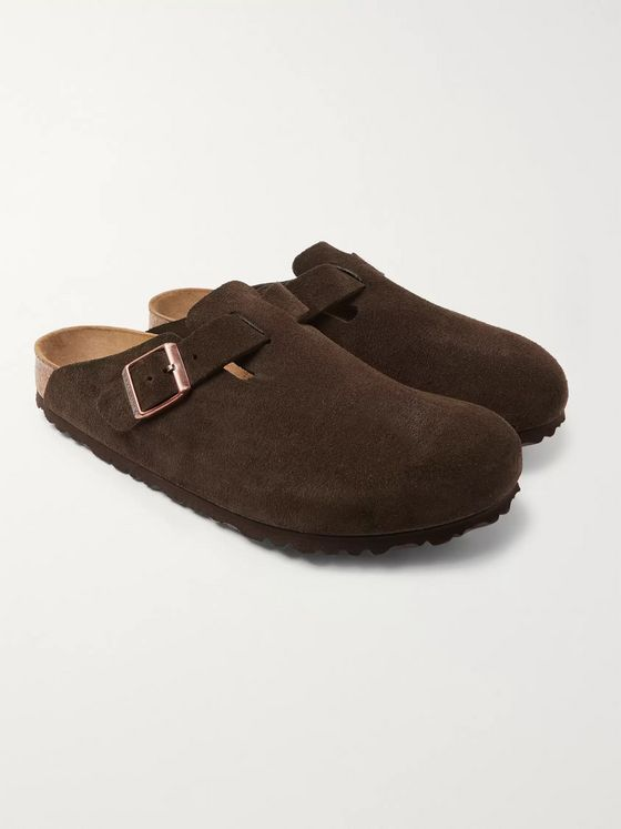 Birkenstock Boston Suede Sandals