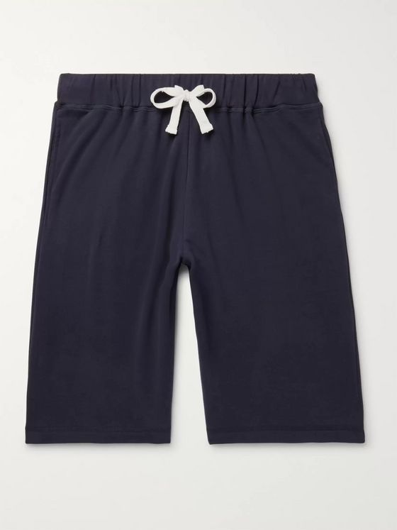 Ermenegildo Zegna Fleece-Back Stretch Cotton-Jersey Shorts