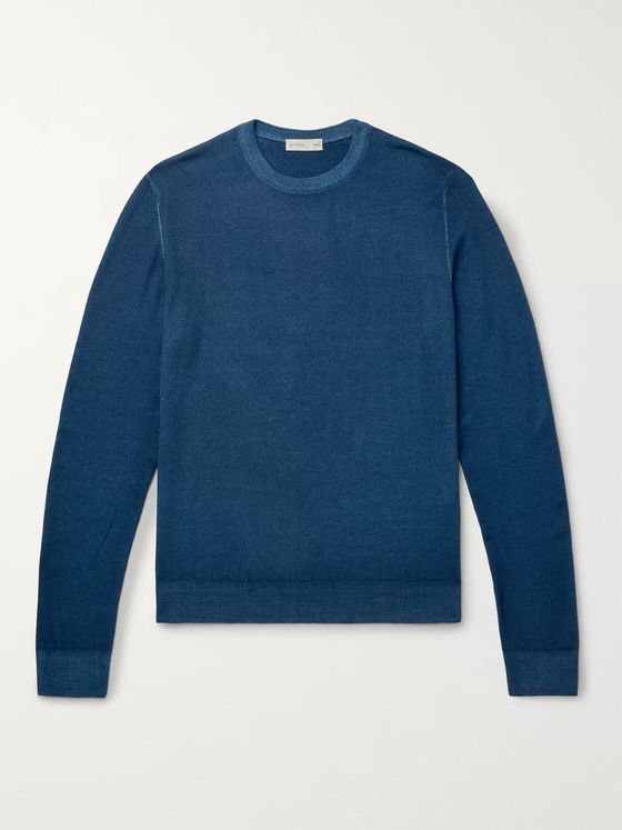 Etro Garment-Dyed Merino Wool Sweater