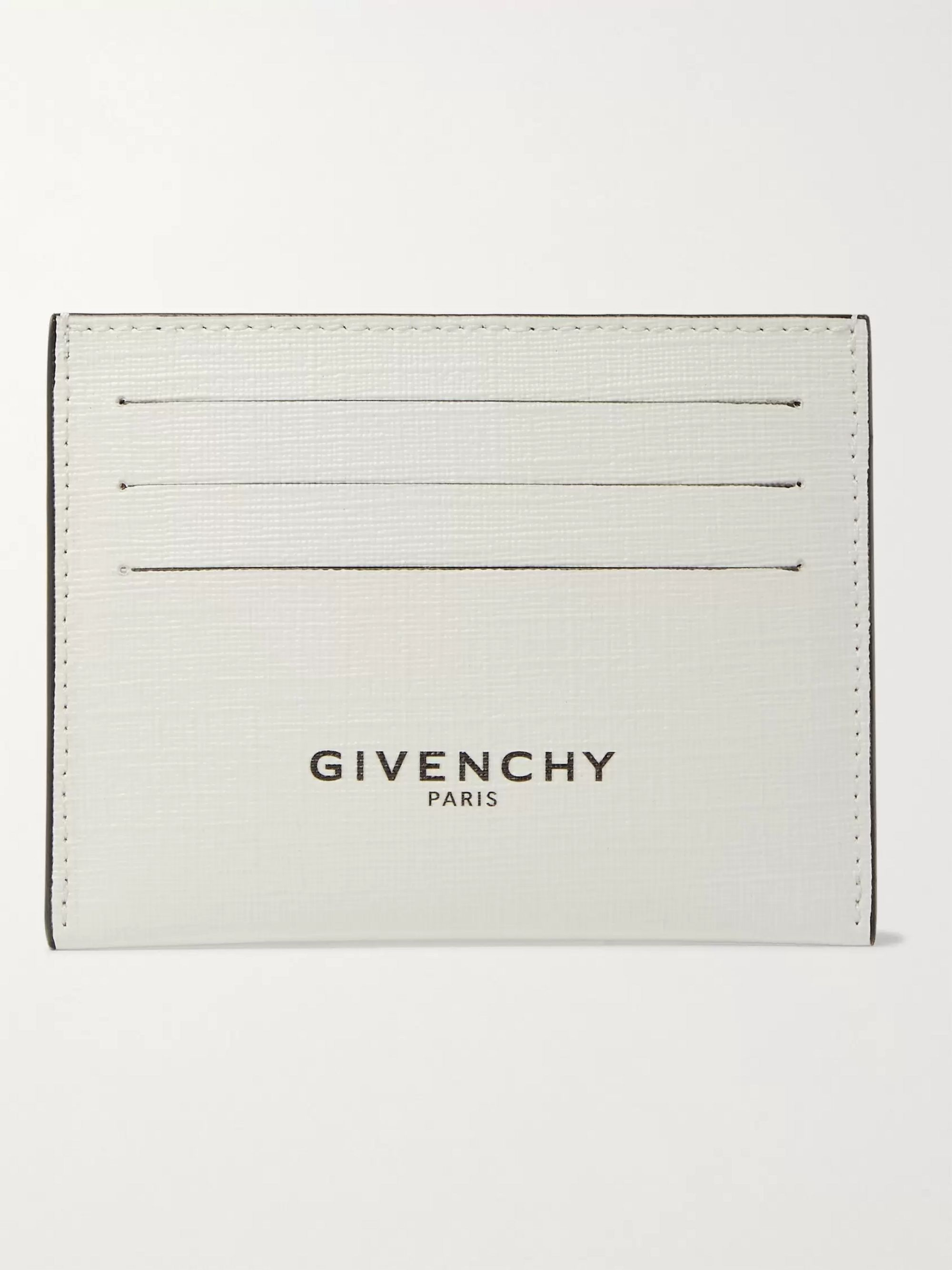 Givenchy Glow-in-the-Dark Logo-Print Coated-Canvas Cardholder
