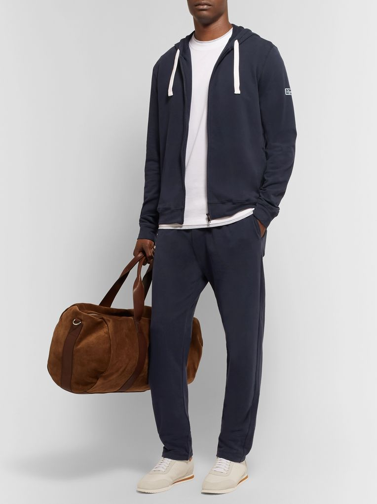 Ermenegildo Zegna Slim-Fit Fleece-Back Stretch-Cotton Jersey Sweatpants