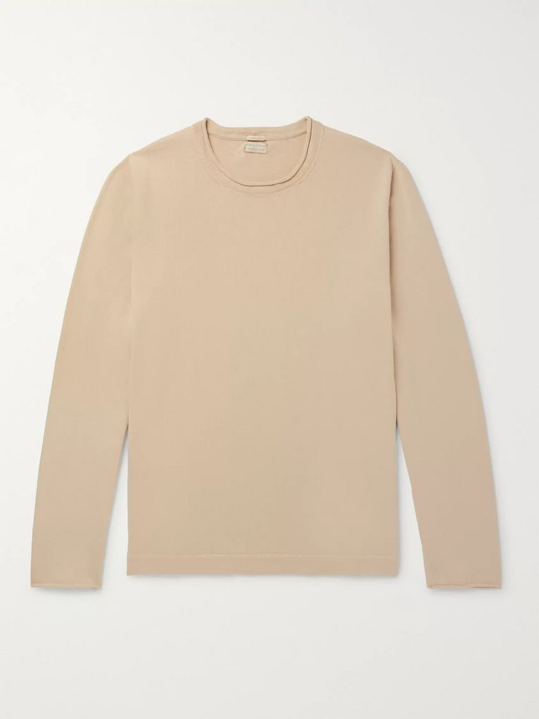 Massimo Alba Jake Cotton and Cashmere-Blend Mock-Neck Sweater