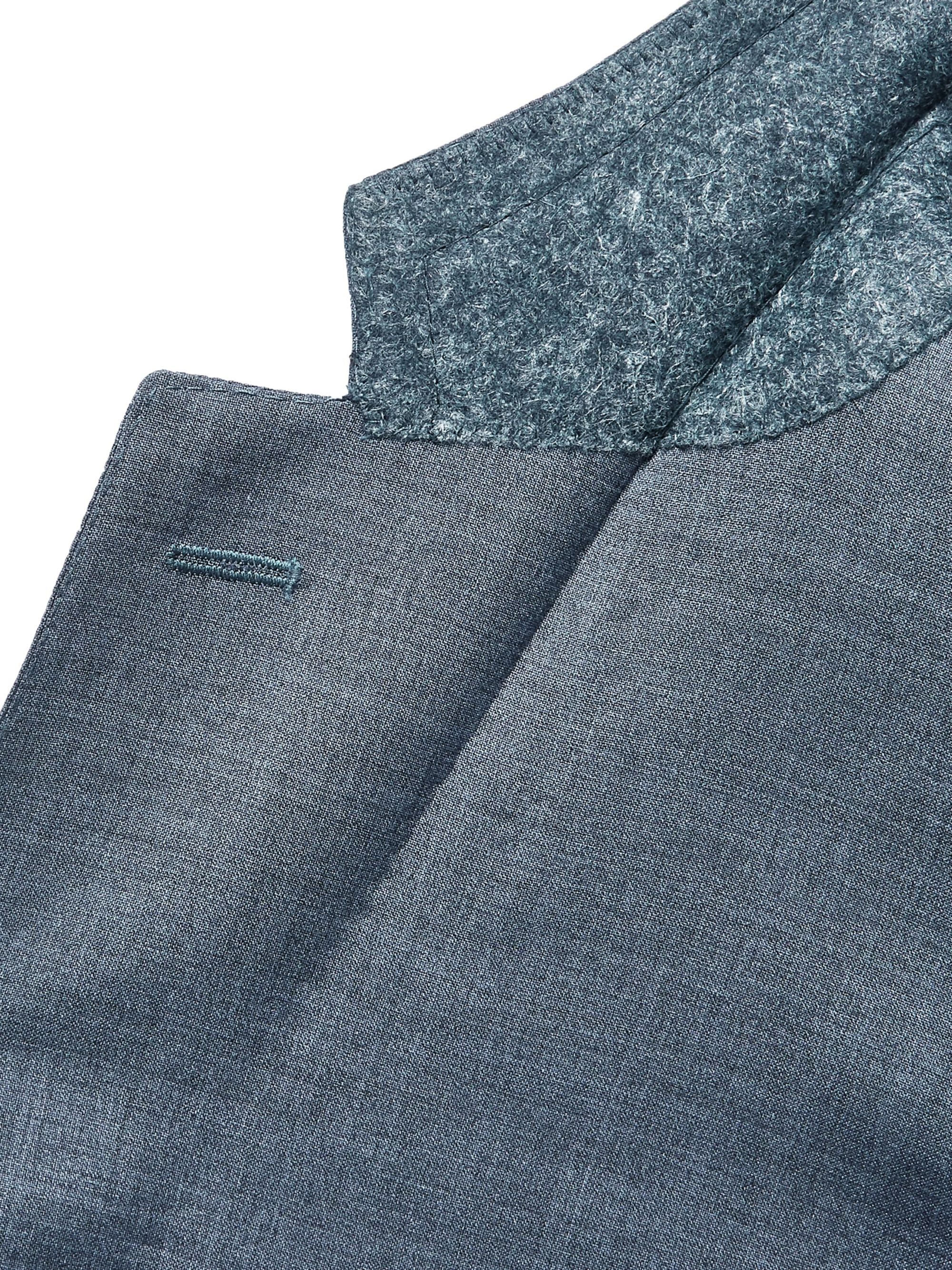 Canali Storm-Blue Slim-Fit Wool Suit Jacket