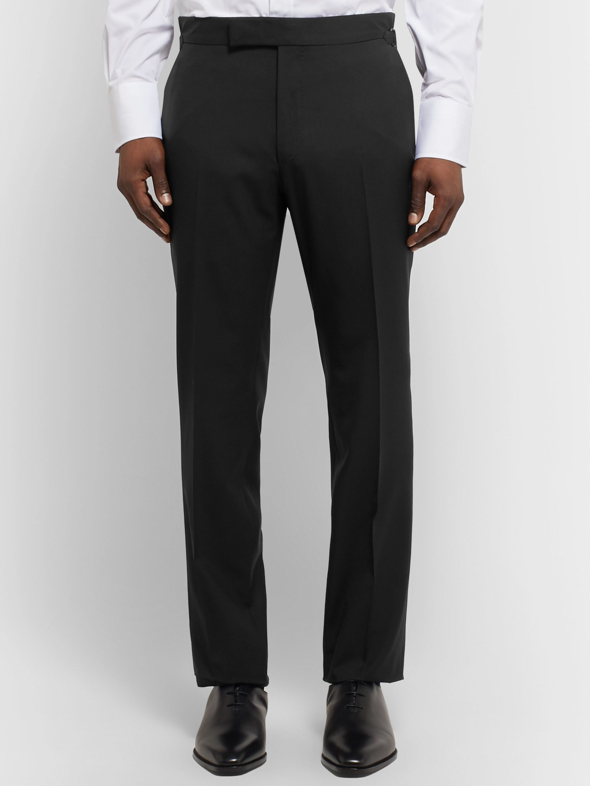 TOM FORD Black Shelton Slim-Fit Wool Suit Trousers