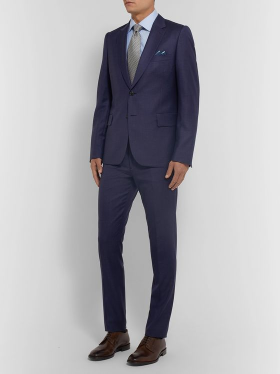 Paul Smith Grey Soho Slim-Fit Puppytooth Wool Suit Trousers