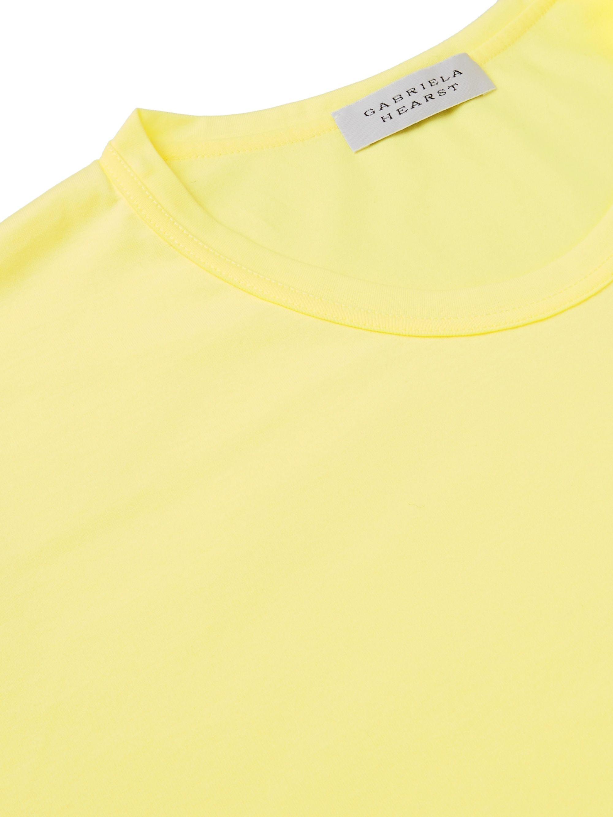 Yellow Banderia Cotton-jersey T-shirt | Gabriela Hearst
