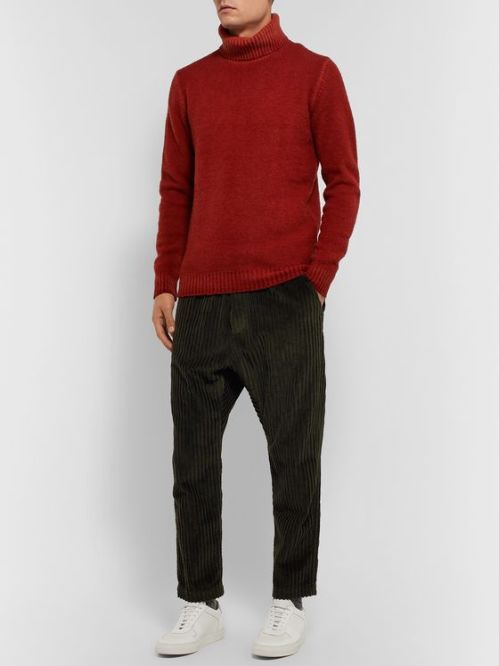Barena Tapered Cotton-Corduroy Trousers