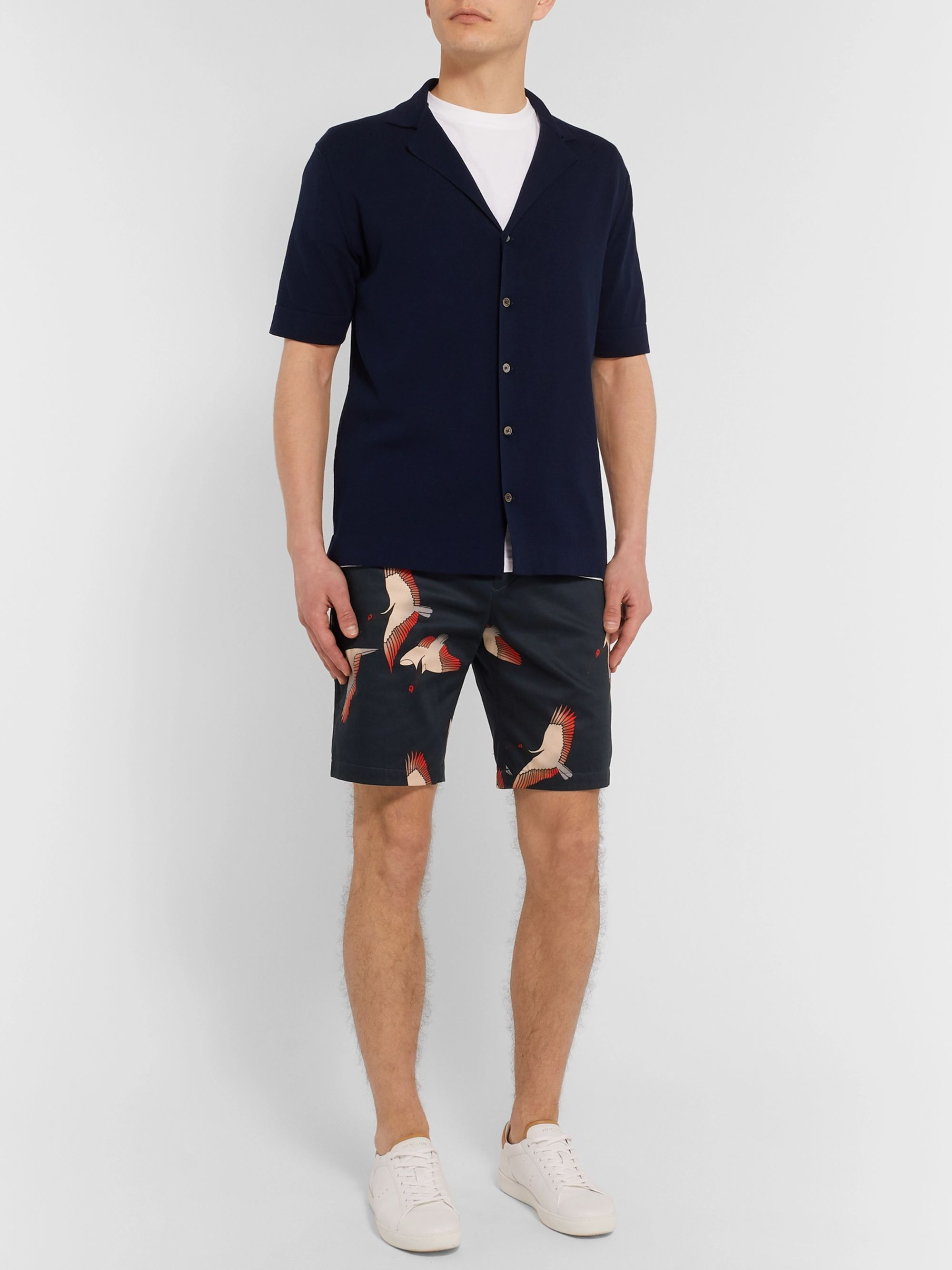 Paul Smith Slim-Fit Printed Cotton-Blend Shorts