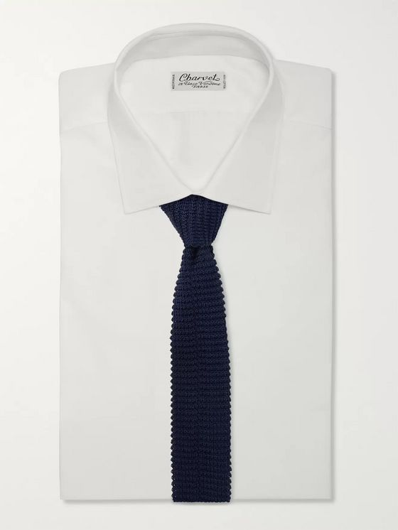 Canali 6.5cm Knitted Silk Tie