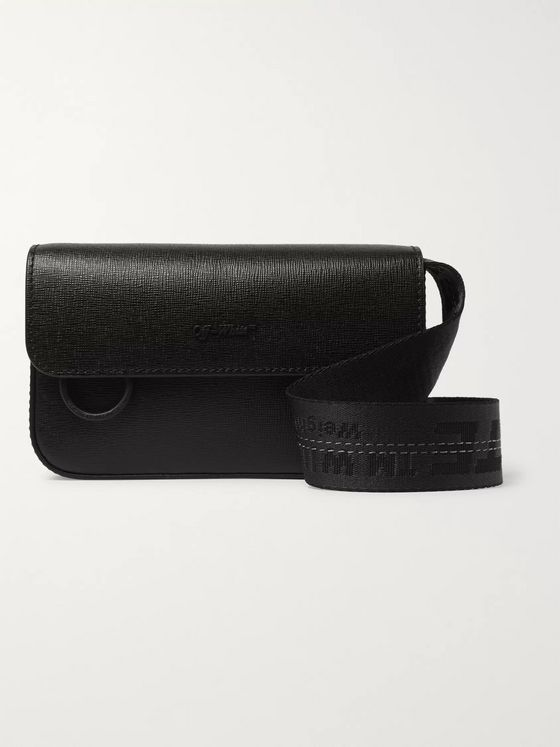 Off-White Cross-Grain Leather Messenger Bag