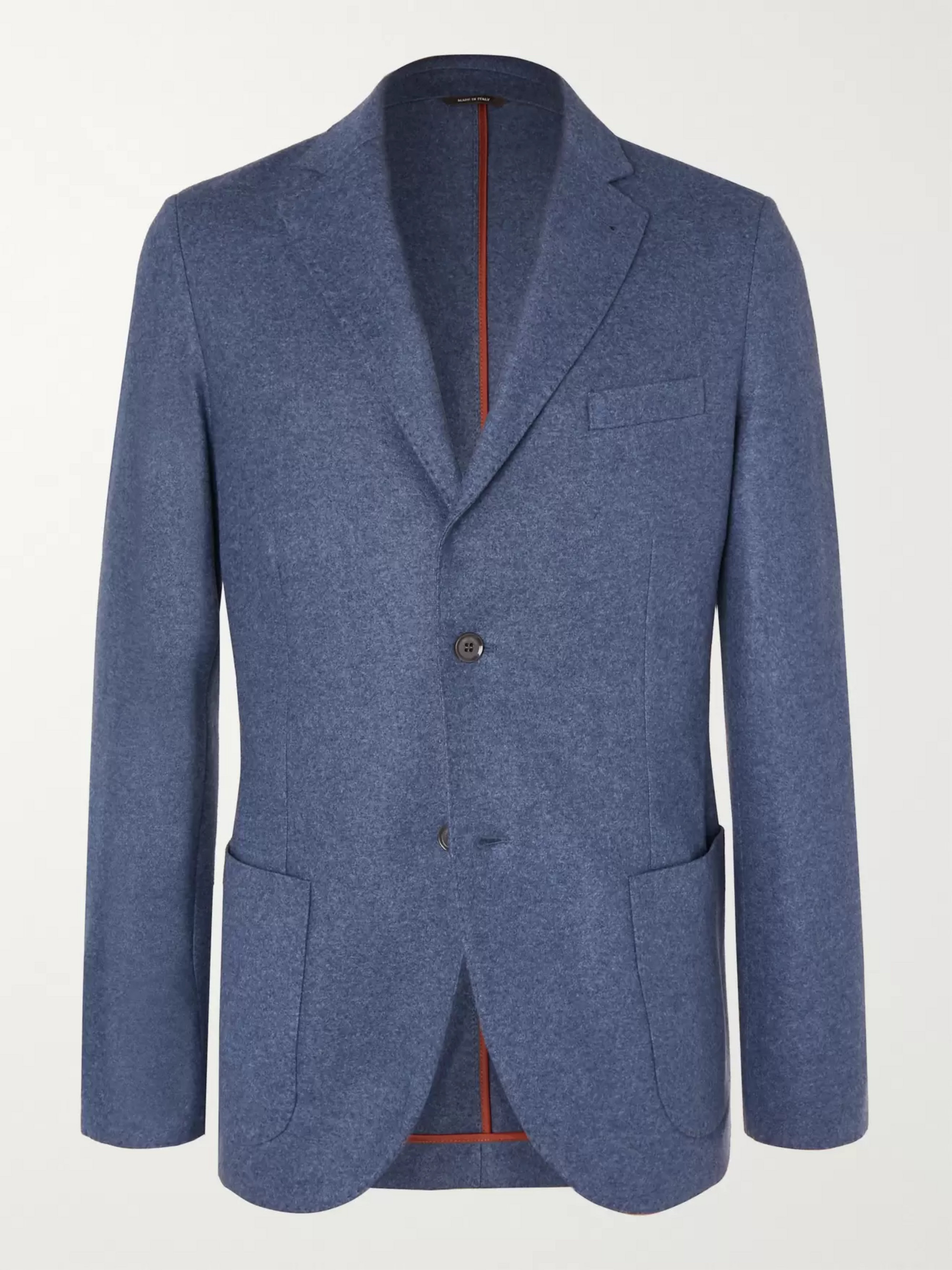 Loro Piana Grey Slim-Fit Cashmere Blazer
