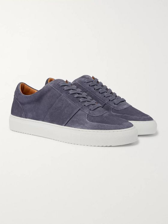 Mr P. Larry Pebble-Grain Leather Sneakers