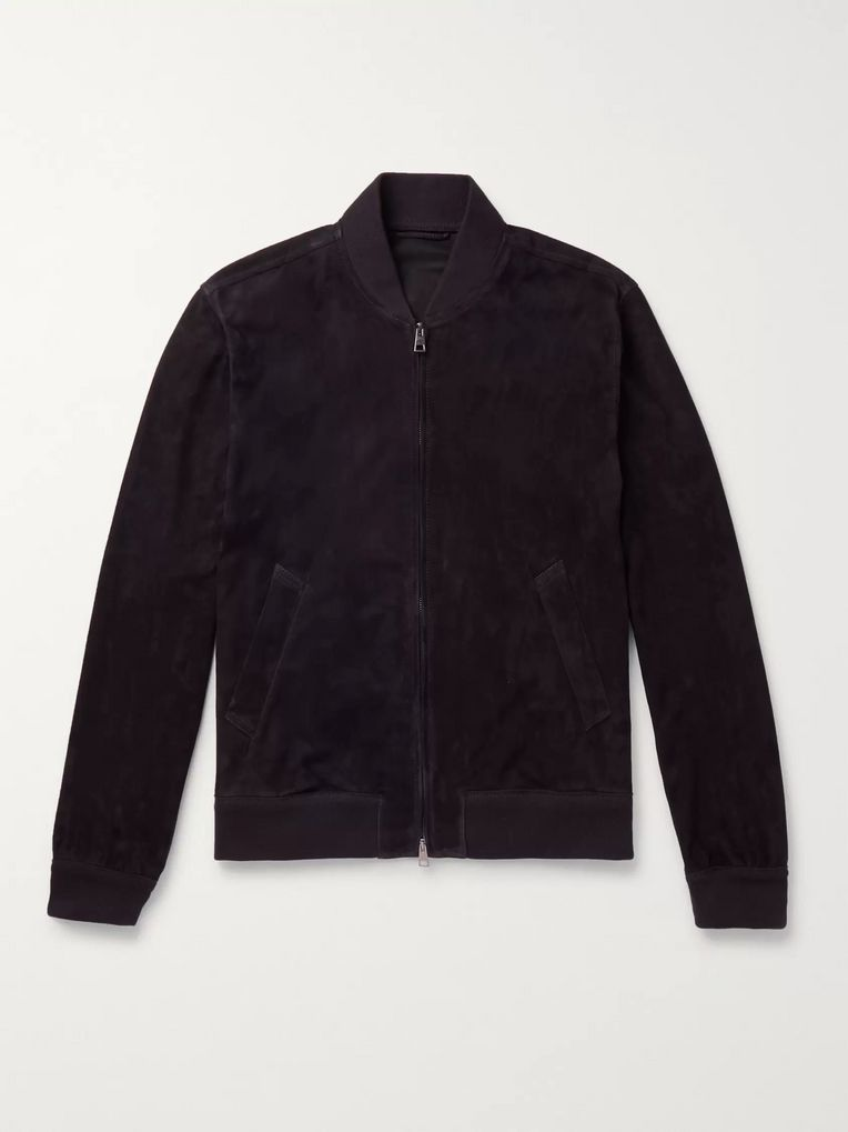 Kingsman Unlined Suede Bomber Jacket