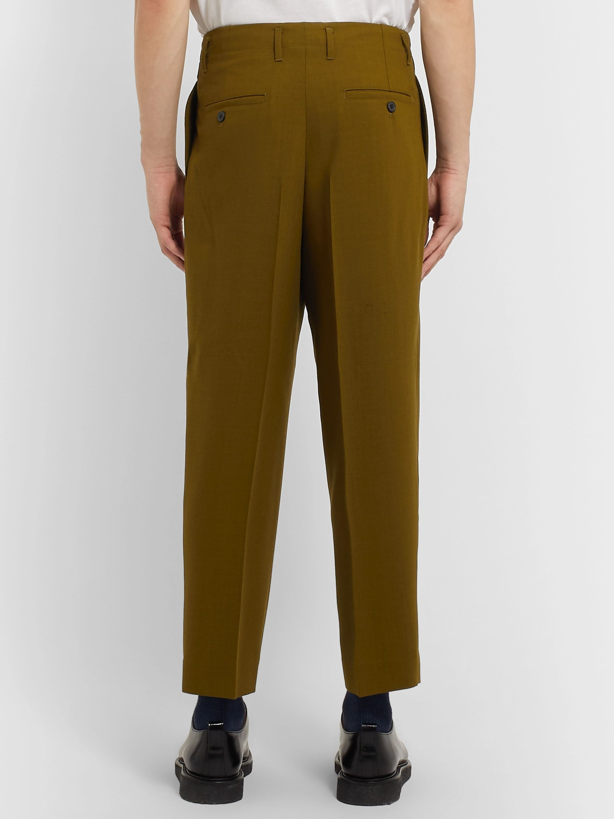 AMI Pleated Virgin Wool-Twill Trousers