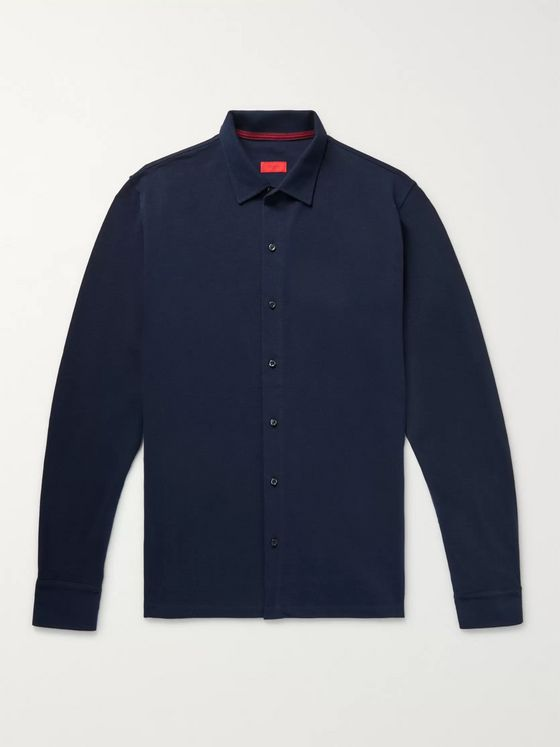 Isaia Cotton-Piqué Shirt