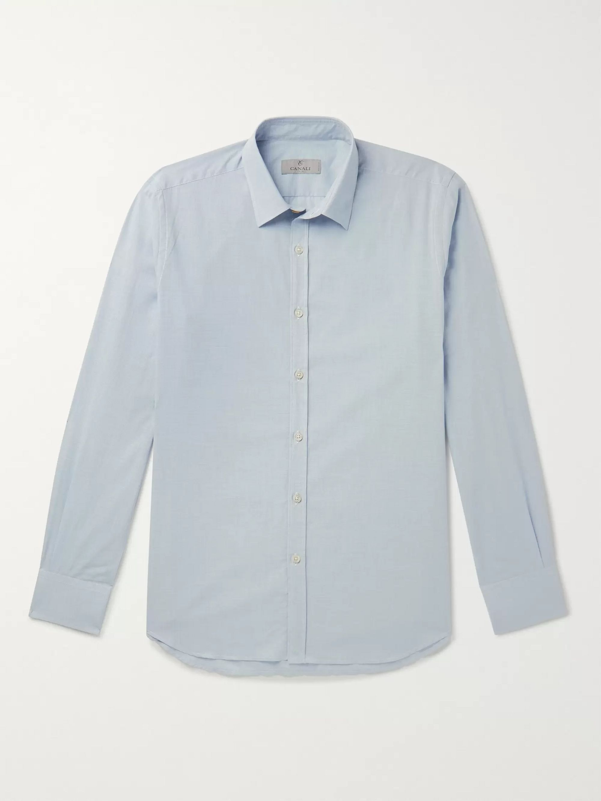 Canali Slim-Fit Puppytooth Cotton Shirt