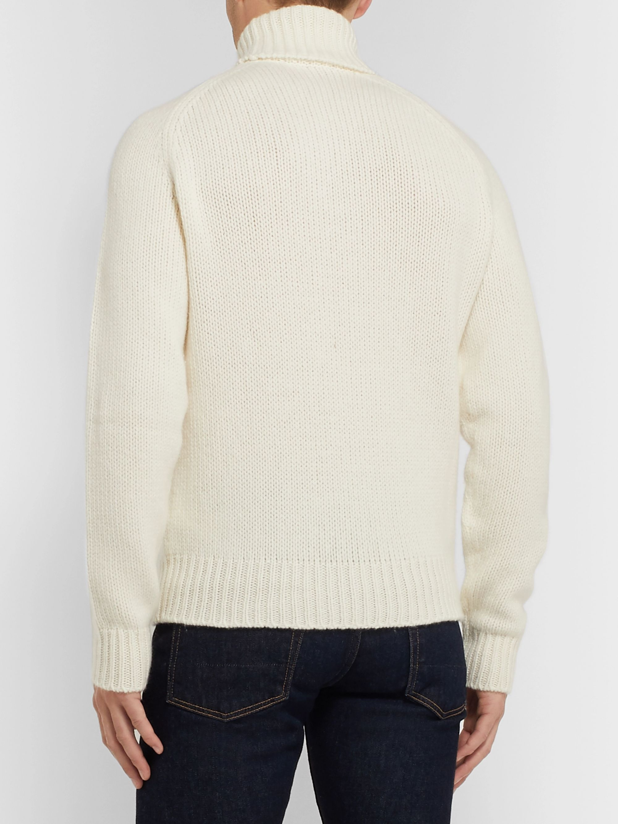 Ralph Lauren Purple Label Wool and Cashmere-Blend Rollneck Sweater