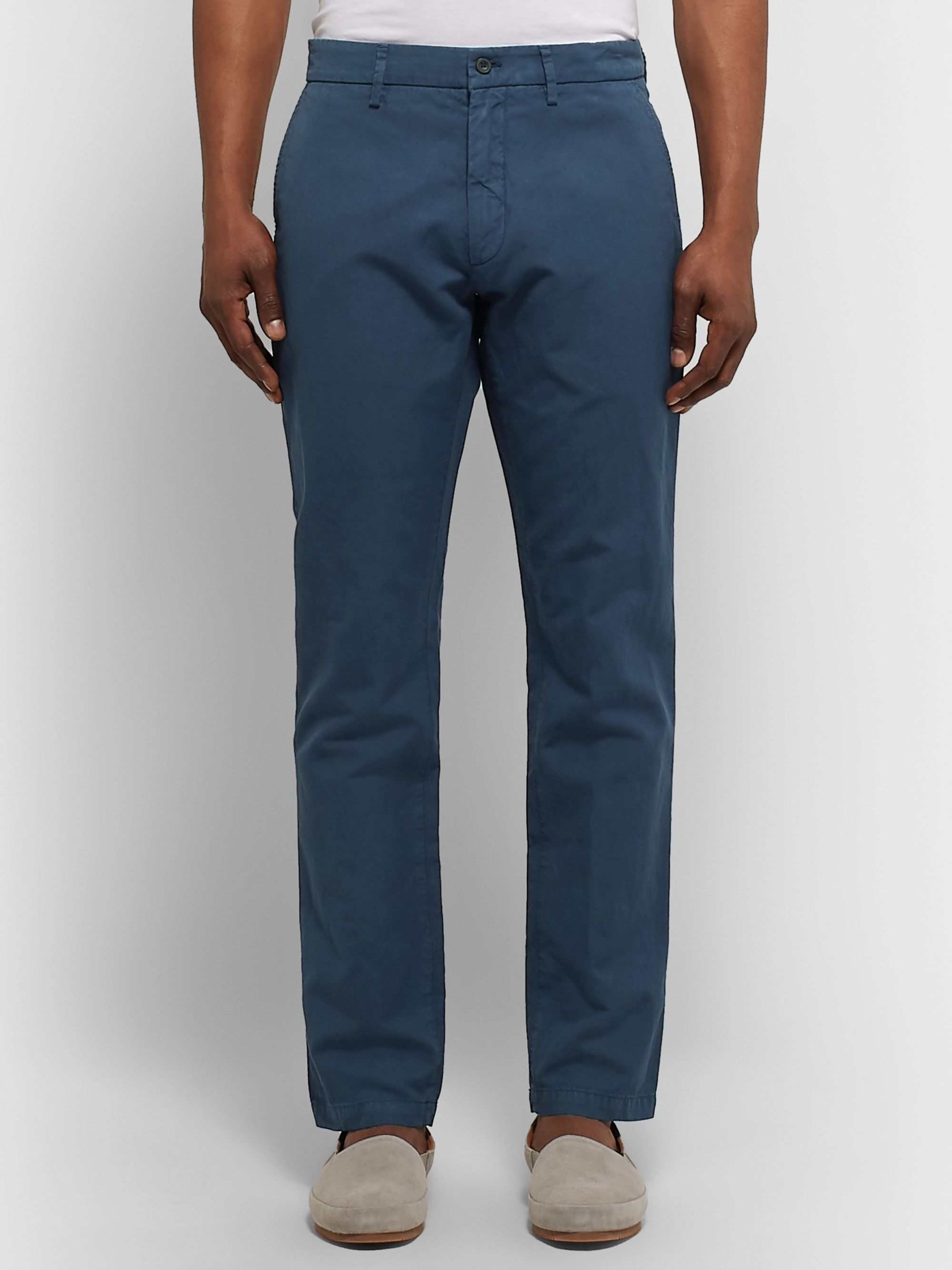 NN07 Karl Slim-Fit Cotton and Linen-Blend Trousers