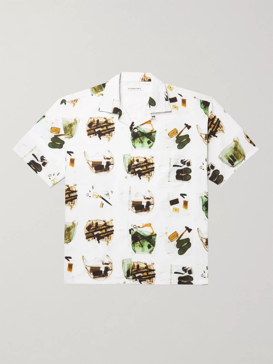 Flagstuff Camp-Collar Printed Cotton Shirt