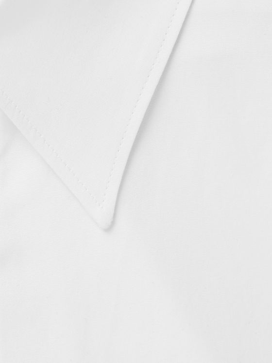 Gabriela Hearst White Quevedo Slim-Fit Cotton-Poplin Shirt