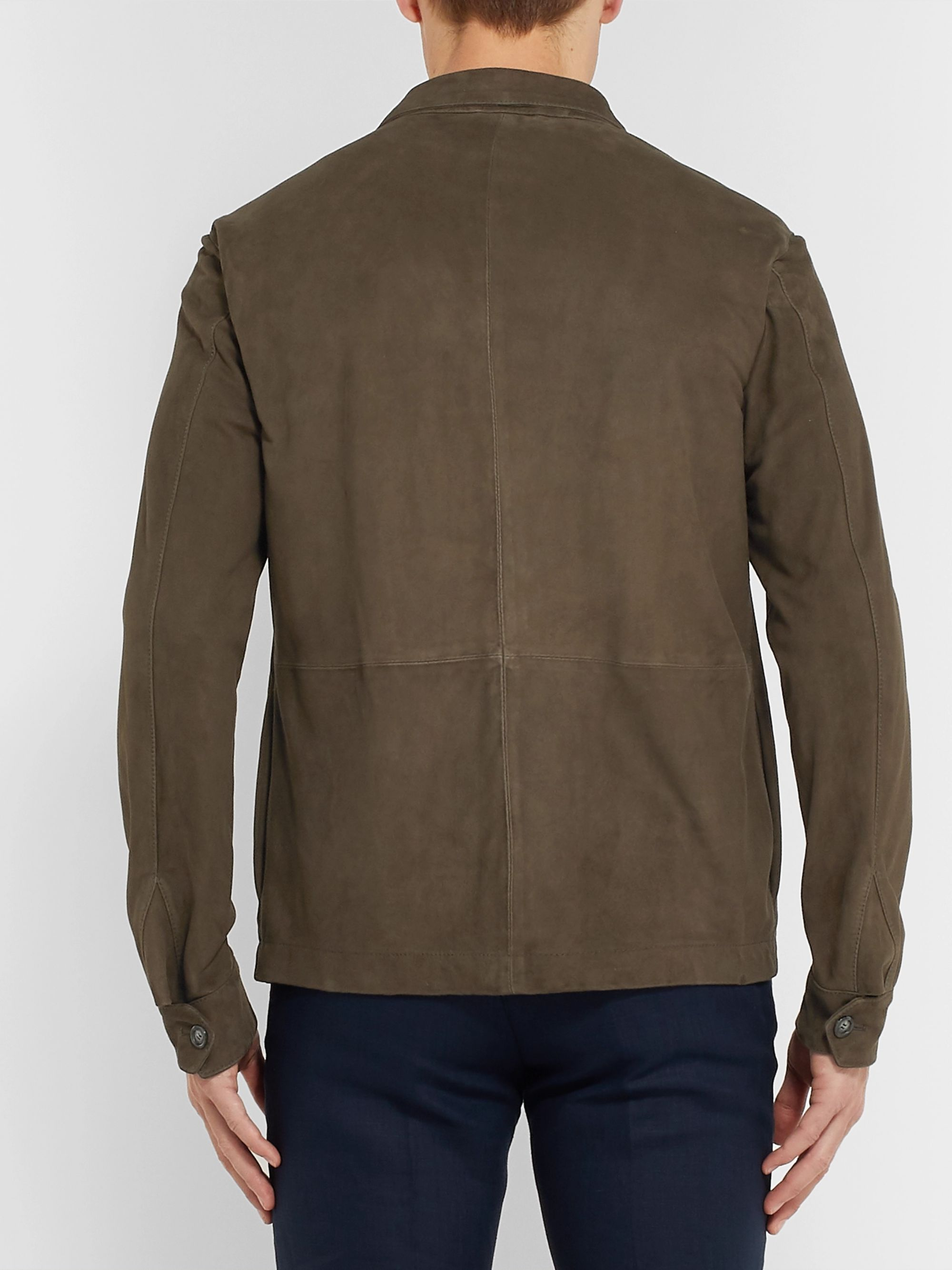 Kingsman Slim-Fit Unlined Suede Jacket