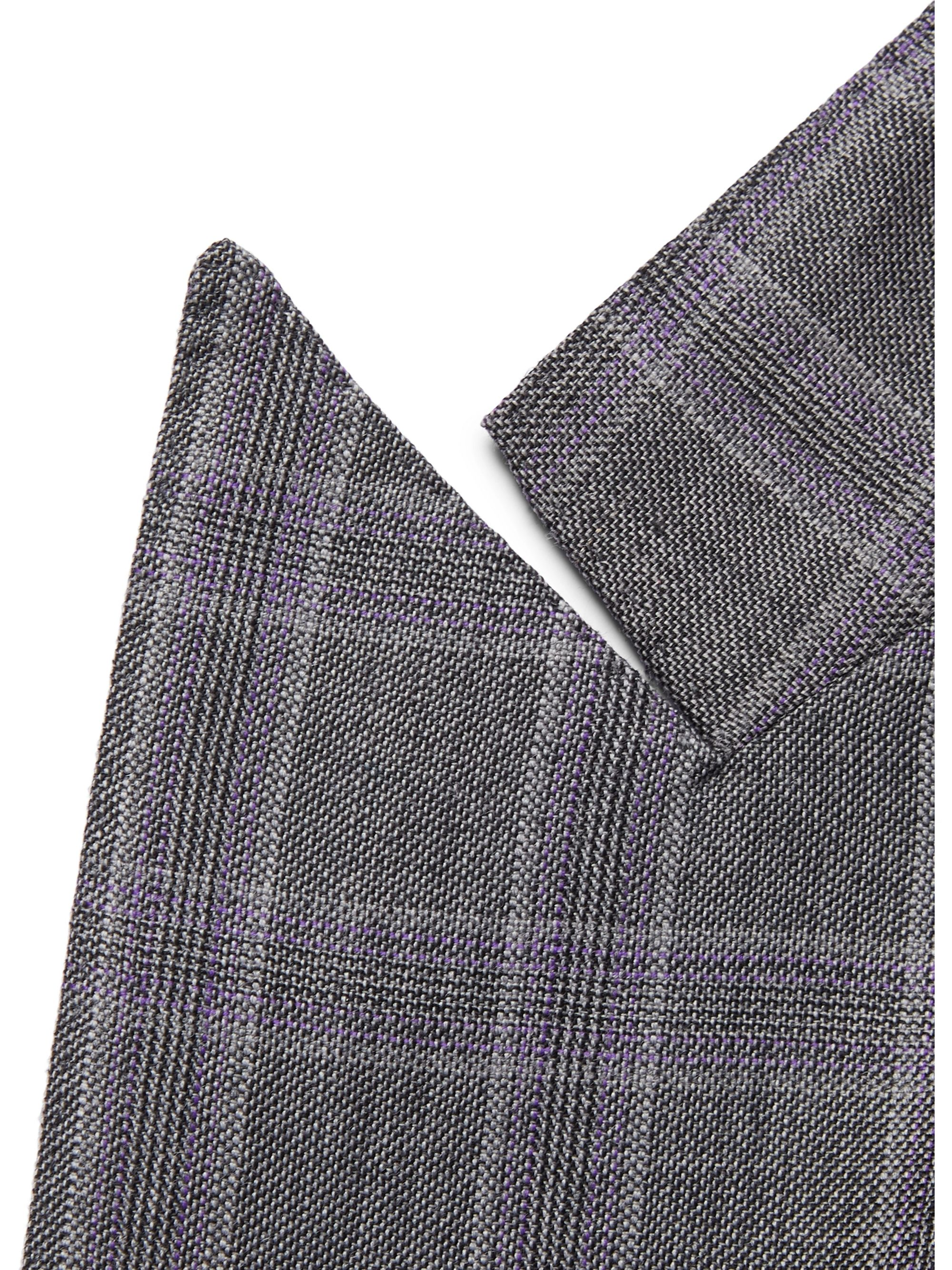 Gabriela Hearst Grey Kipling Double-Breasted Checked Wool Suit Jacket