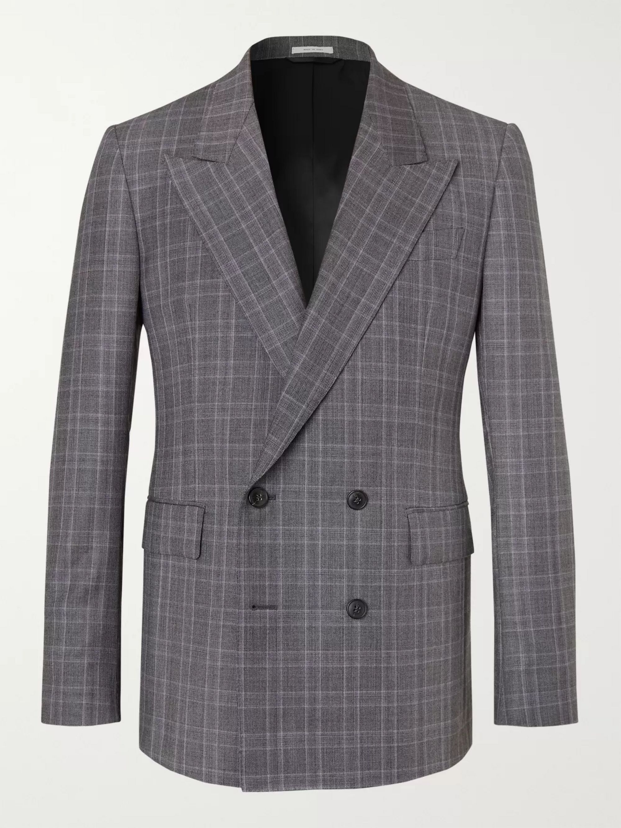 grey-kipling-double-breasted-checked-wool-suit-jacket by gabriela-hearst