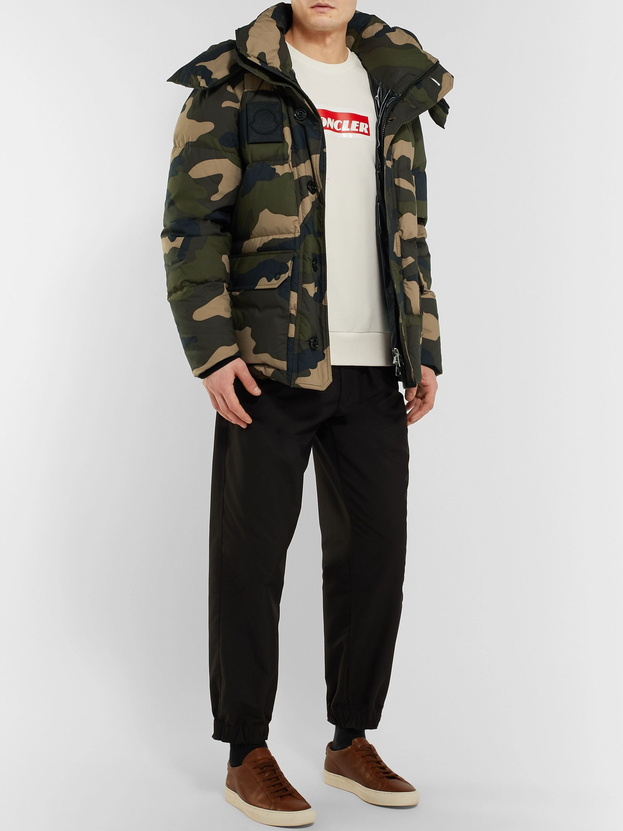 Moncler Dary Slim-Fit Camouflage-Print Quilted Cotton-Shell Hooded Down Jacket