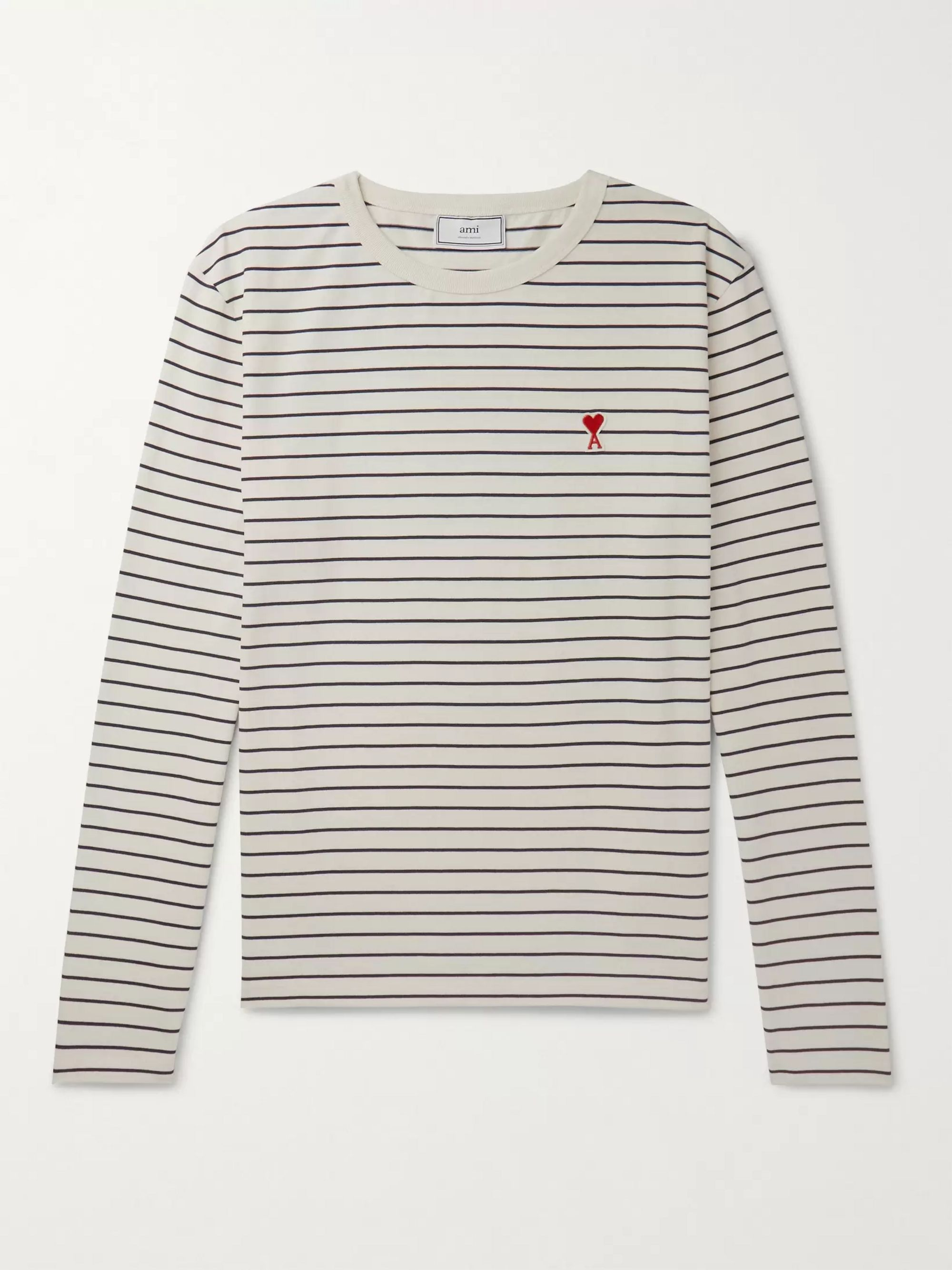 Heart appliqué Cotton jersey T shirt