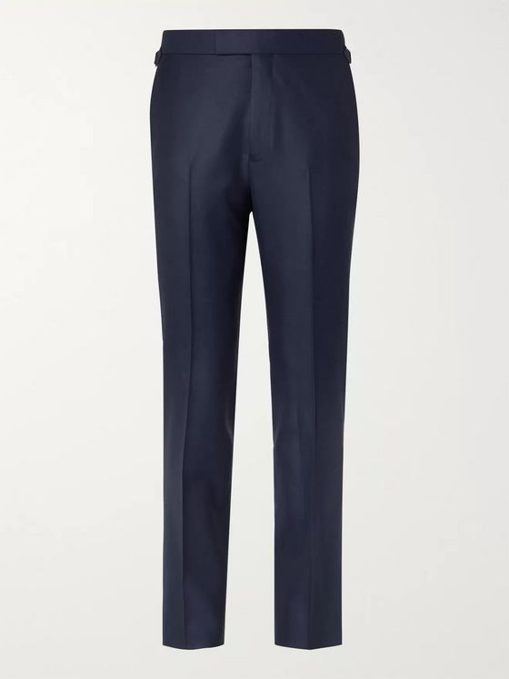 Kingsman Rocketman Navy Slim-Fit Wool-Twill Suit Trousers