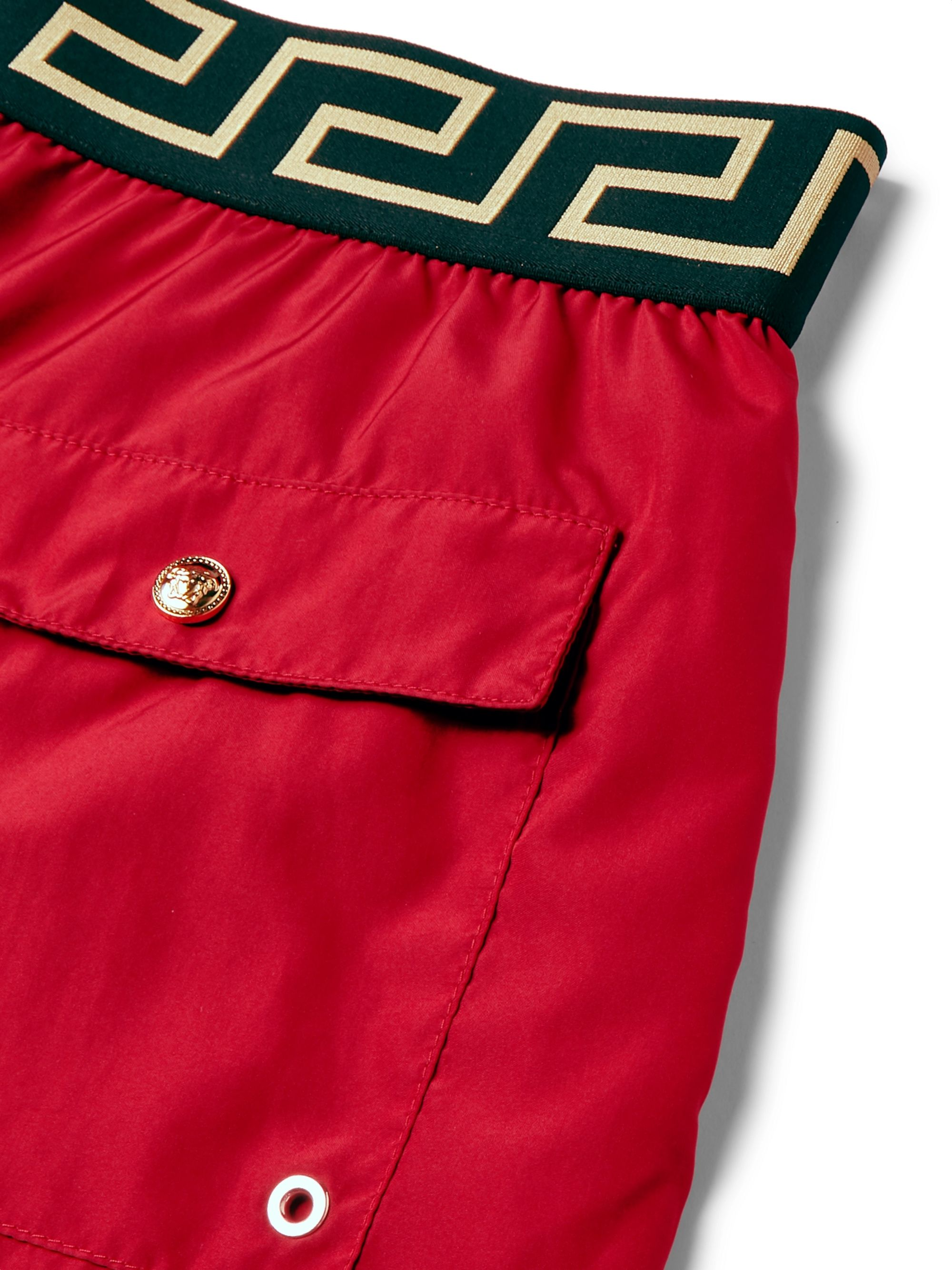Versace Slim-Fit Short-Length Swim Shorts