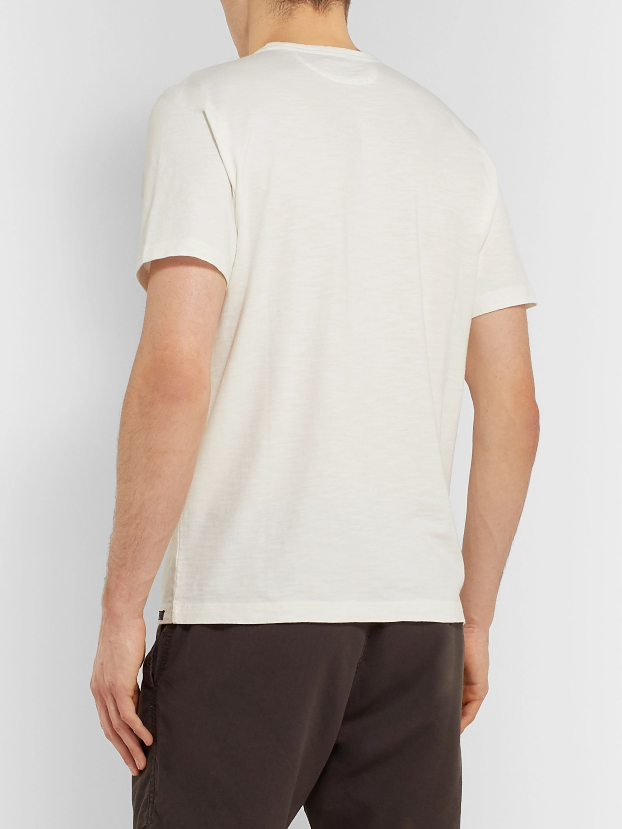 Faherty Striped Slub Cotton-Jersey T-Shirt
