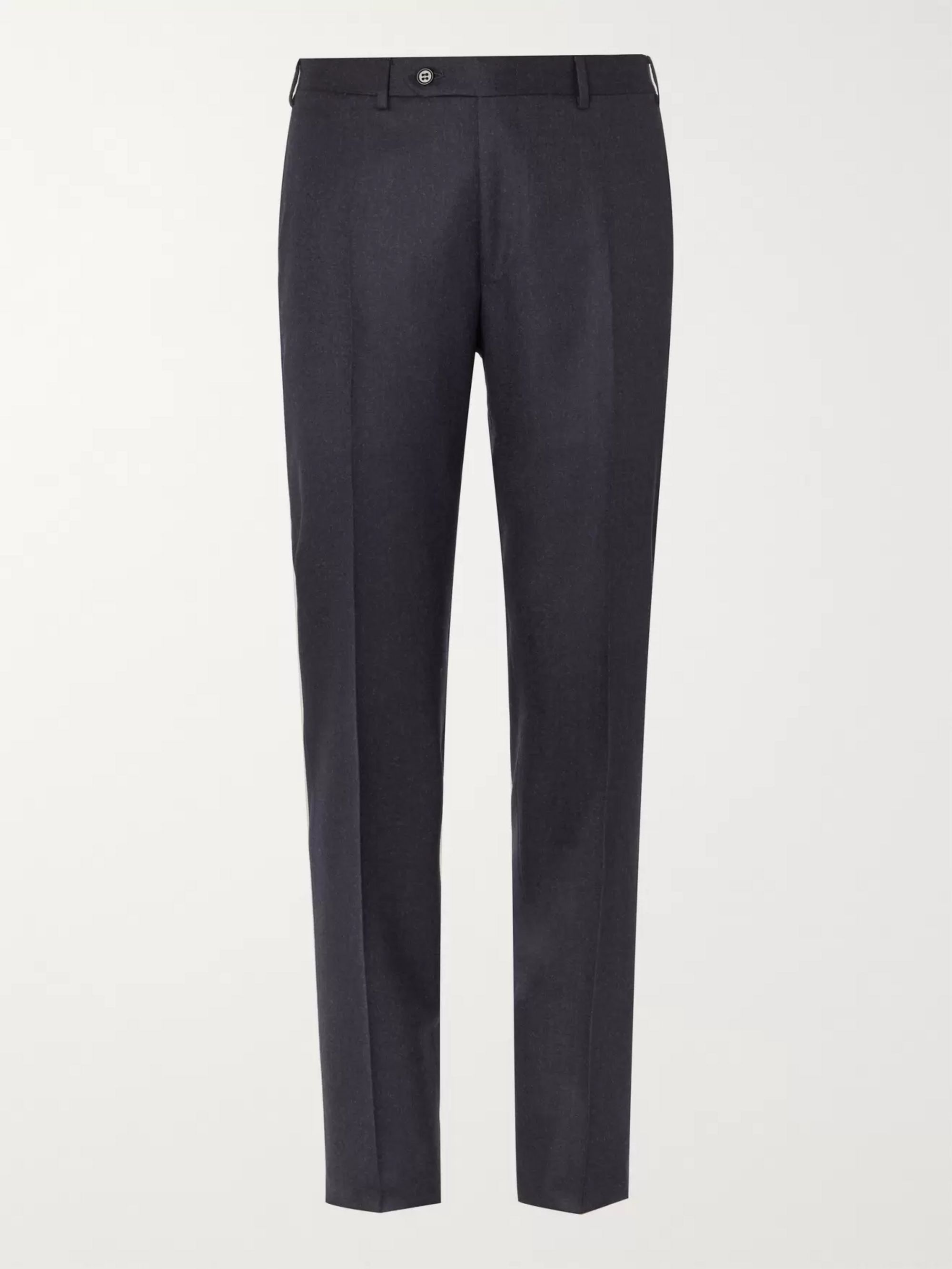 Canali Light-Grey Slim-Fit Super 120s Wool Suit Trousers