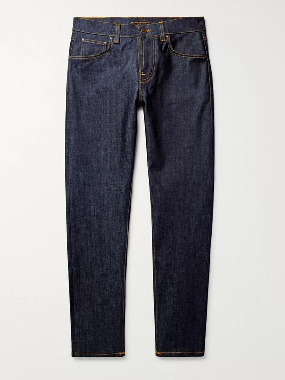Nudie Jeans Steady Eddie II Tapered Organic Stretch-Denim Jeans