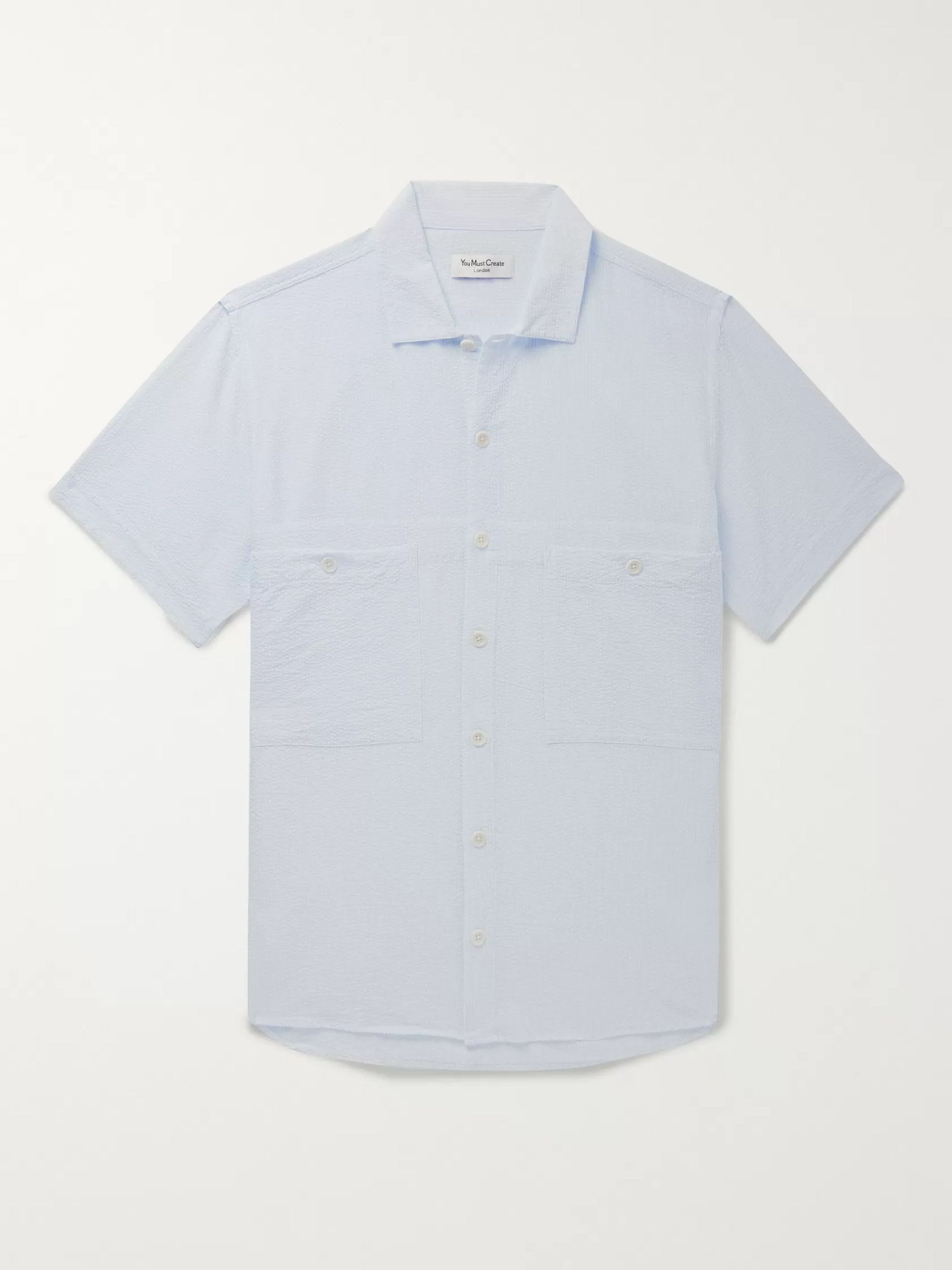 YMC Striped Seersucker Shirt
