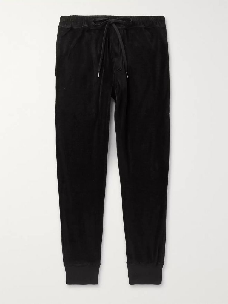 TOM FORD Cotton-Blend Velour Sweatpants