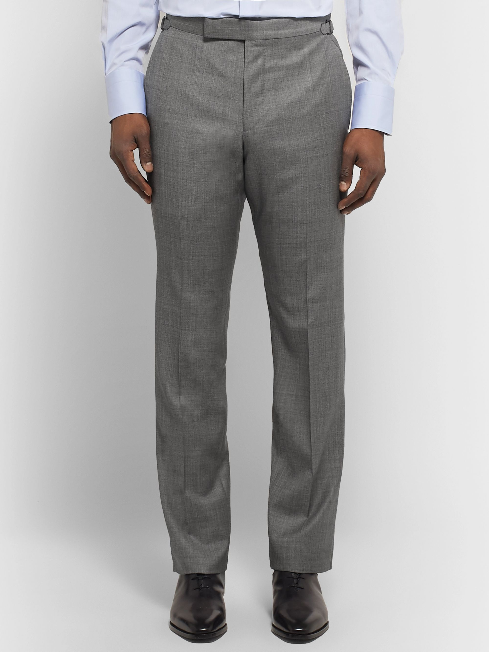 TOM FORD Grey O'Connor Slim-Fit Super 110s Wool-Sharkskin Suit Trousers