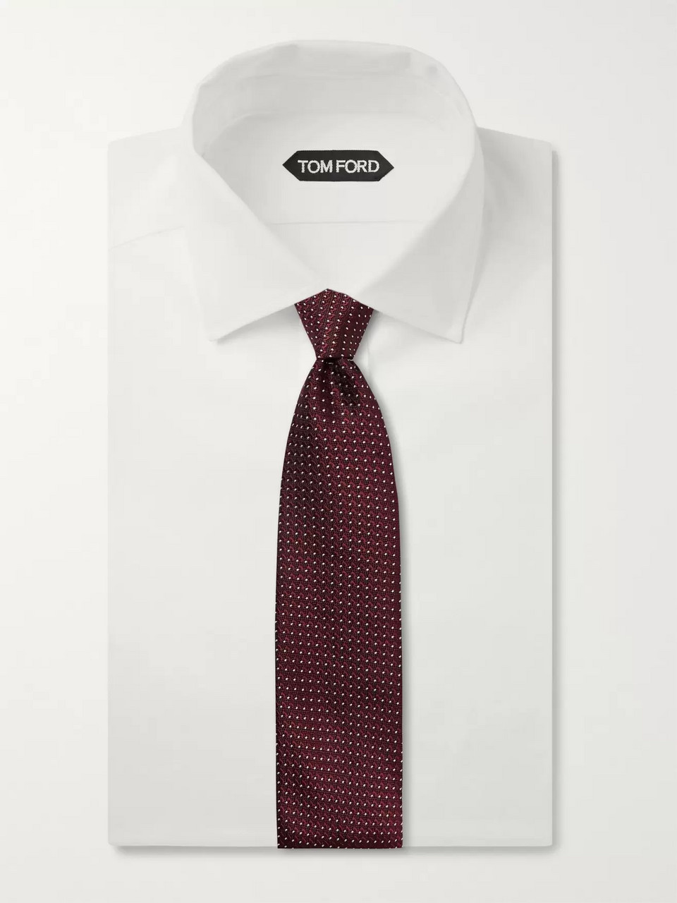 TOM FORD 8cm Pin-Dot Silk-Jacquard Tie