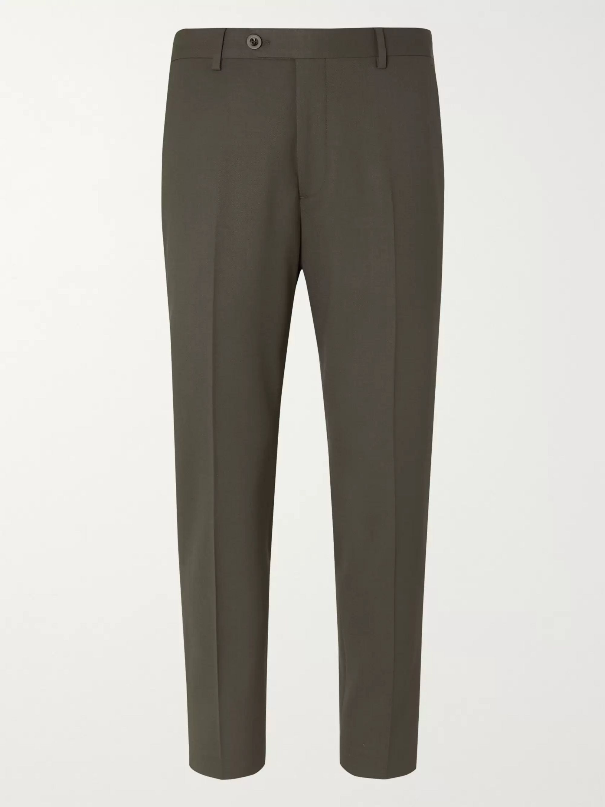 Mr P. Slim-Fit Wool-Blend Cropped Trousers