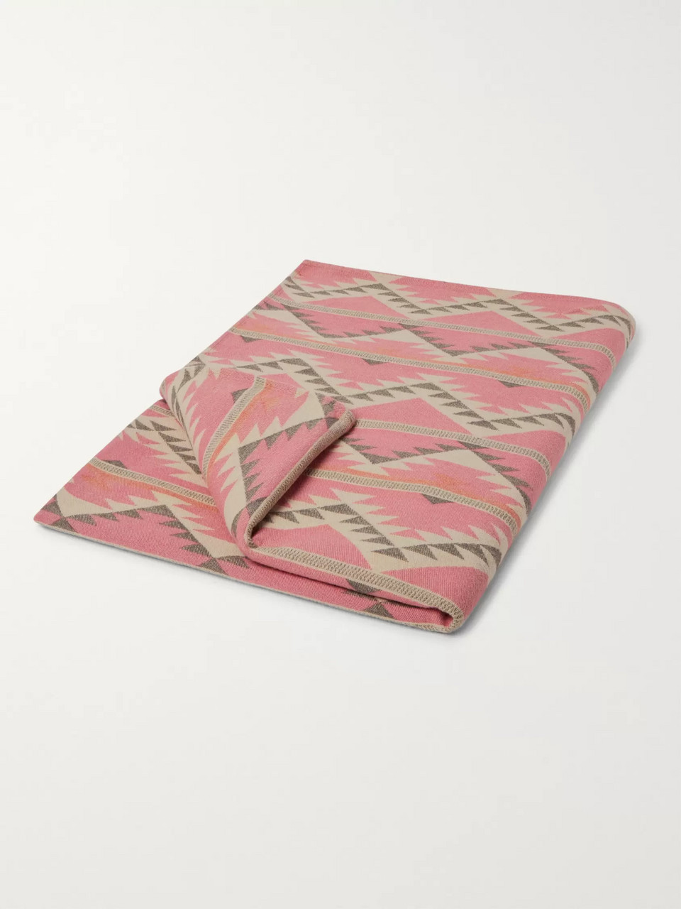 Faherty Organic Cotton-Flannel Jacquard Blanket